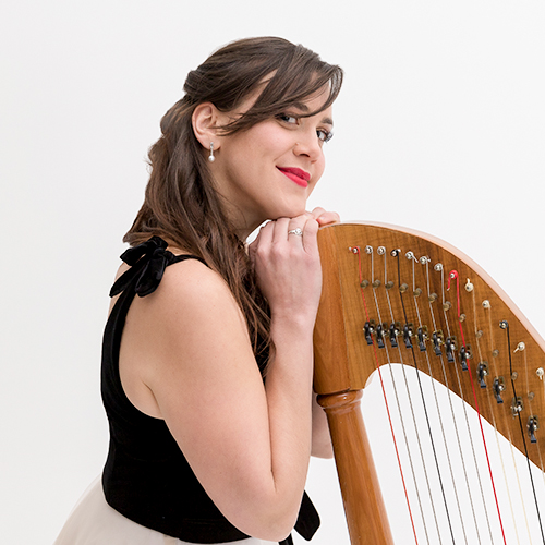 claire harpist hire in melbourne for wedding