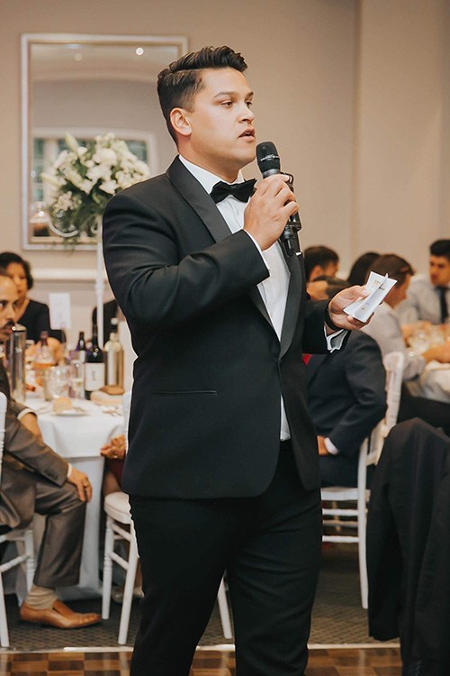 justin MCS in melbourne wedding party
